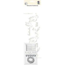 Silhouetten-Tischlicht-Set Motiv 03 VE=5 Blatt