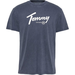 TOMMY JEANS T-Shirt TJM HANDWRITING TEE blau M (48/50)