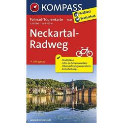 Neckartal-Radweg 1 : 50 000 - Fahrradkarten