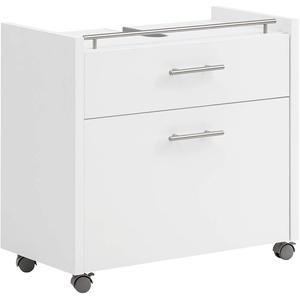 Schildmeyer Trient Waschbeckenunterschrank 147475, Holzwerkstoff, weiß matt, 67 x 35 x 62 cm