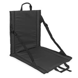 bw-online-shop Faltbares Sitzkissen mit Lehne schwarz