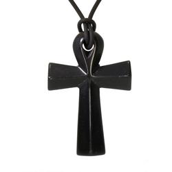 Adelia´s Kettenanhänger Kreuz Obsidian Anhänger