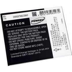 Powery Akku für Lenovo A889, 3,7V, Li-Ion