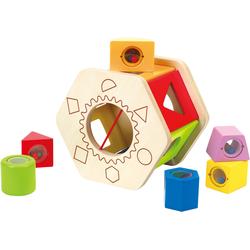 Hape Steckspielzeug Sortierbox Shake und Match bunt Kinder Holzspielzeug