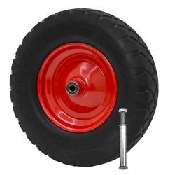 PU Schubkarrenrad inkl. Achse 4.00-8 400x100 mm Schubkarre Reifen Rad Ersatzrad
