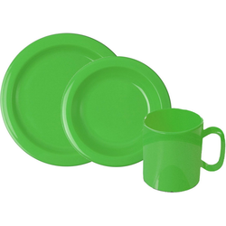 WACA Frühstücks-Geschirrset (6-tlg), Kunststoff grün