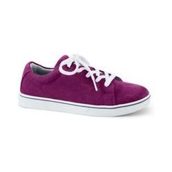 Sneaker, Damen, Größe: 41 Weit, Lila, Leder, by Lands' End, Roter Turmalin - 41 - Roter Turmalin
