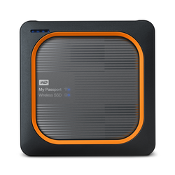 WD My Passport Wireless SSD 2TB Schwarz/Orange - externe Festplatte, USB 3.0 micro-B