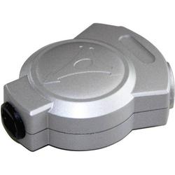 Hicon Toslink Digital-Audio Y-Adapter [1x Toslink-Buchse (ODT) - 2x Toslink-Buchse (ODT)] 0.00m Silb