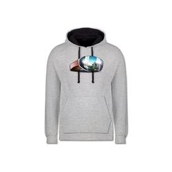 Shirtracer Hoodie Skibrille - Wintersport - Unisex Damen & Herren Kontrast Hoodie - Pullover & Hoodies skibrille rosa XS
