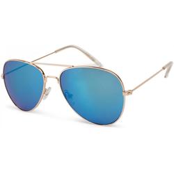 styleBREAKER Sonnenbrille Kinder Pilotenbrille Verspiegelt goldfarben
