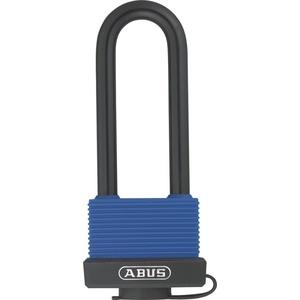 ABUS Messing-Vorhangschloss 70IB/50BH80 Hochbügel 50657, verschiedenschließend, blau