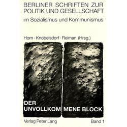 Der unvollkommene Block als Buch von