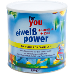 FOR YOU eiweiß power Vanille 750 g