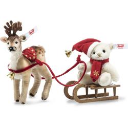 Steiff 006067 Weihnachtsschlitten Set 3tlg