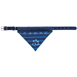 TRIXIE Halsband mit Tuch, M–L: 43–55 cm/25 mm, indygo