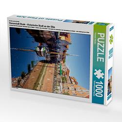 Hansestadt Stade - Historische Stadt an der Elbe Lege-Größe 48 x 64 cm Foto-Puzzle Bild von TomKli Puzzle