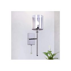 ZMH Wandleuchte Wandlampe glas 1 x E27-Fassung max. 60 Watt Wandspot für Wohnzimmer Schlafzimmer