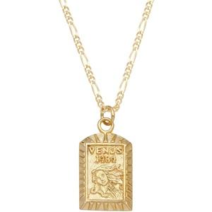 Elli Halskette Damen Figarokette Venus-Anhänger Vintage in 925 Sterling Silber