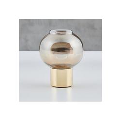 carla&marge Teelichthalter Welene, aus Kristallglas mit Messingfuß