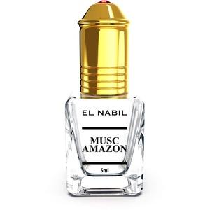 Musc Amazon 5ml Parfum Duft - El Nabil Misk Musk Moschus Parfümöl für HERREN & DAMEN - Ätherische Essenzen Natur Perfume Oil Attar Scent