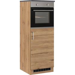 HELD MÖBEL Backofen/Kühlumbauschrank Colmar 60 cm breit, 165 cm hoch, geeignet für Einbaukühlschrank und Einbaubackofen natur