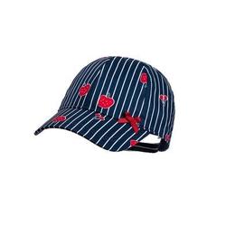 maximo Girls Cap Fruits Streifen navy-red