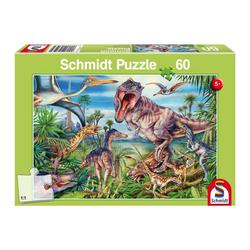 Schmidt Spiele Puzzle Dinosaurier Bei den Dinosauriern, 60 Puzzleteile