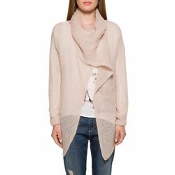 SOCCX Cardigan mit Schal rosa XL