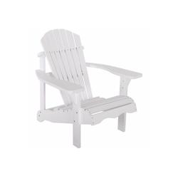 Raburg Gartenstuhl SUNJA Premium in WEIß - Akazie Hartholz, lackierter XXL Design-Gartenstuhl Canadian Adirondack Deck-Chair / Hamburger Alsterstuhl, belastbar bis 150 kg