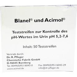 Teststreifenheft zur Bestimmung des Urin ph-Wertes