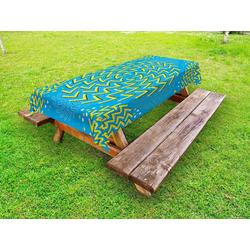 Abakuhaus Tischdecke dekorative waschbare Picknick-Tischdecke, Illusion Illusionary Spinnanlagen 145 cm x 210 cm