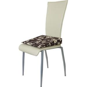 Orthopädisches Keilkissen Sitzkeilkissen Sitzkissen Sitzhilfe Kissen, Braun mit Muster