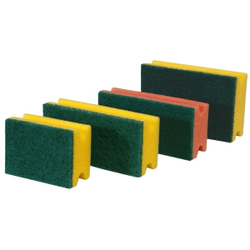 Meiko Padschwämme Scheuerschwamm, PU-Schwamm, Format: 13 x 7 x 4,5, Farbe: gelb/grün