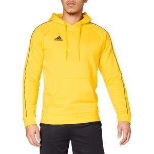 adidas Mens CORE18 Hoody Sweat, Yellow, L