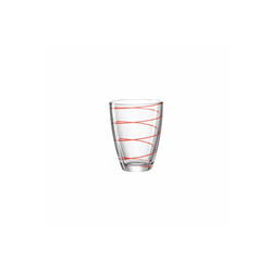 montana-Glas Glas Montana JOLLY Trinkglas rot 350 ml 1-tlg., Glas