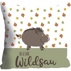 Kissenhülle Kleine Wildsau, queence (1 Stück), mit einer kleinen Wildsau