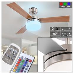 etc-shop Deckenventilator, LED Deckenventilator mit Fernbedienung 3 Stufen Vor-Rücklauf D 105 cm