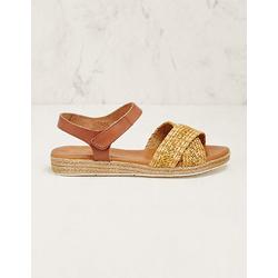 Deerberg Damen Jute-Sandalen Freja gelb sandaletten