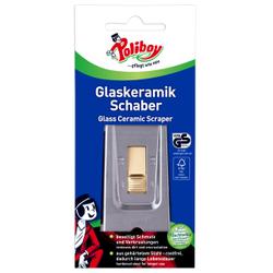 POLIBOY Glaskeramik Schaber,  Für alle glatten, harten Oberflächen, z.B. aus Glas, Glaskeramik oder Stein, 1 Stück