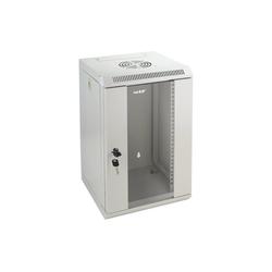 HMF Serverschrank 10 Zoll, 6-12 HE Netzwerk-Switch (9 HE, Netzwerkschrank voll Montiert, 31,2 x 30 x 48,3 cm, Lichtgrau) grau 31.2 cm x 48.3 cm x 30 cm