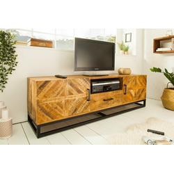SITHEIM.de Lowboard INFINITY Solid TV Board 160cm Mango Wood Industrial Design