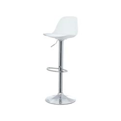 PAPERFLOW Barhocker Bobba (2er-Set), Sitzkissen aus Kunstleder weiß