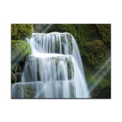 Bilderdepot24 Glasbild, Glasbild - Wasserfall 80 cm x 60 cm