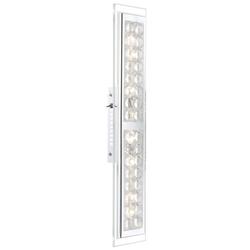 LED Kristall Wandleuchte aus Chrom, L 55,5 cm, MONA