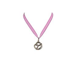 Halskette Brezel pink