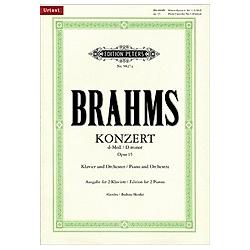 Klavierkonzert Nr.1 d-Moll op.15  Ausgabe für 2 Klaviere. Johannes Brahms  - Buch