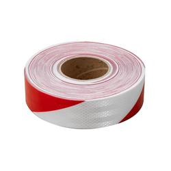 Selbstklebendes reflektierendes Klebeband - weiß-rot - 45m