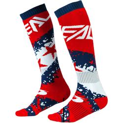 Oneal Pro Stars Motocross Socken, rot-blau