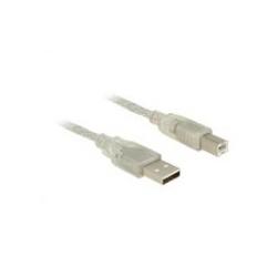 Delock USB-Kabel USB Typ B 4-polig M bis M 3 m USB/USB 2.0 durchsichtig (83895)